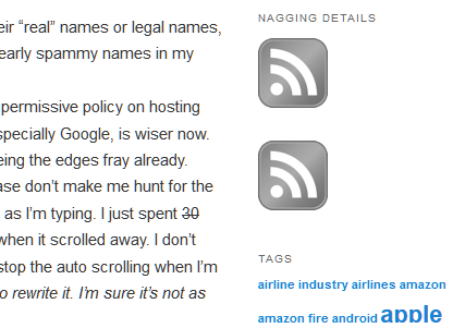 WordPress feed icons - can you tell which one is posts and which is comments?
