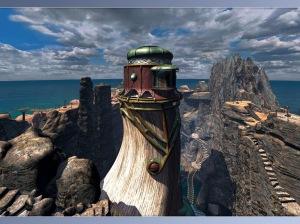 Myst game - island tower