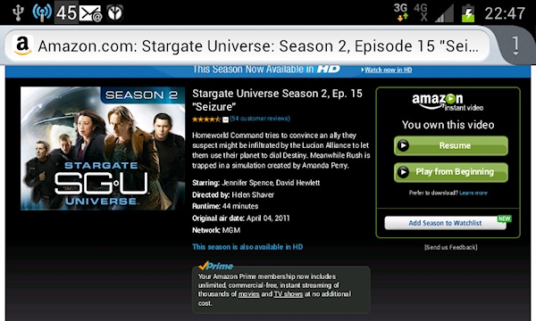 Amazon Instant Video Prime - Poor Interface design allows purchases when pushing play buttons.