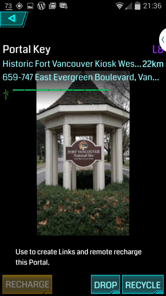 Ft Vancouver portal in Washington.